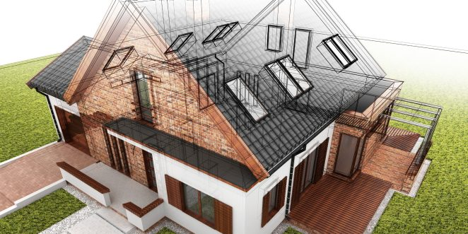 3D Rendering of House Building